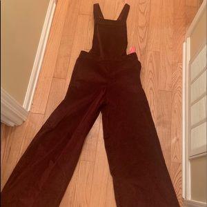 Xhilaration flare wine color corduroy overalls!